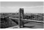 George Washington Bridge - New Jersey Tower with N.J. in the background