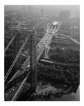 George Washington Bridge - New York Tower looking east down the New York Approaches