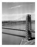 George Washington Bridge - New York Tower with N.J. in the background