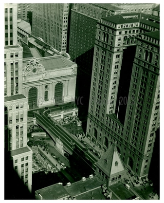Grand Central Station Aerial view