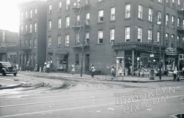 Greene and Franklin Avenues, 1950