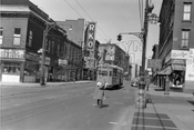 Greenpoint Avenue looking north at Calyer Street and RKO Greenpoint Theater, 1950