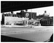Gulf Gas Station Kent Ave & Penn St on foot of BQE highway 1966
