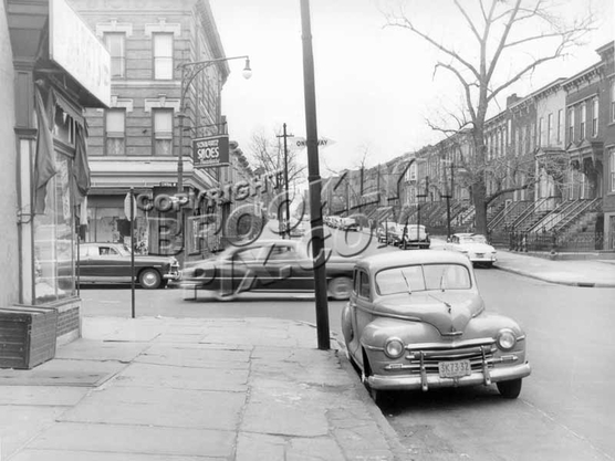 Halsey Street looking south looking toward Central Avenue, 1951