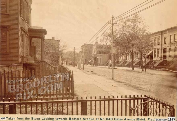 Gates Avenue looking west to Bedford Avenue, 1897