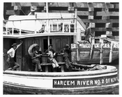 Harlem River number2  boat in Ship Canal  NYC 1906