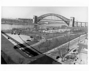 Hell Gate Bridge from from Triboro Bridge 1940s  -  Queens, NY