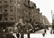 Hester St. looking west from Suffolk St. 1900