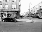 Hopkinson Avenue looking north at St. Marks Avenue toward Bergen Street, 1940
