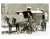 Horse-drawn ice delivery wagon - 1910
