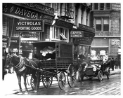 Horse & Wagon parked on Broadway - Tribeca - Downtown Manhattan NYC 1914
