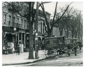 Horse & Wagons lined the streets in Harlem NY 1901