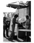 Hot Dog Vendor on the boardwalk