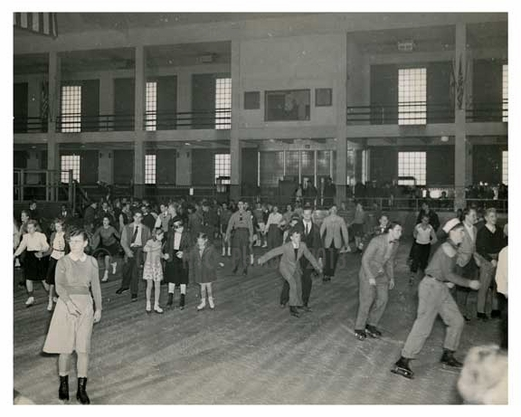Ice skating at the NYC bldg. at the 1939 Worlds Fair - Flushing - Queens - NYC