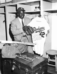 Jackie Robinson at the time of his retirement after the 1957 season