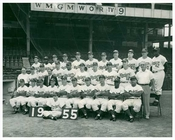 Jackie Robinson posing with his team -  Brooklyn Dodgers  Brooklyn NY