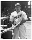 Joe Medwick first game with the Brooklyn Dodgers  June 14 1940  - NYC