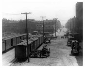 Kent Ave looking east toward North 7th Street - Williamsburg - Brooklyn, NY  1918