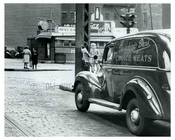 Kids on street outside of the Diner - Brooklyn NY 1945