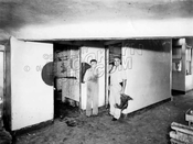 Killing and Plucking Room, live chicken market, 497 Metropolitan Avenue, 1946