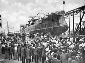 "Launch of the ""Connecticut,"" September 29, 1904"