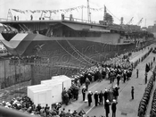 Launching USS Franklin D. Roosevelt, April 29, 1945