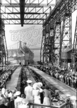Launching USS North Carolina, April 9, 1941