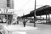 Liberty Avenue east from Forbell Street, City Line, 1956