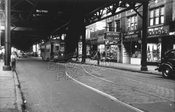 Liberty Avenue looking east near Sheridan Avenue, City Line, June 1947