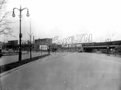 Linden Boulevard at Junius Street and Avenue D, LIRR trestle on the right, 1940