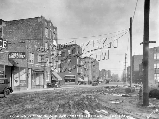 Looking east on Blake Avenue from East 98th Street, 1927