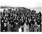 Looking East toward Ocean Parkway - showing the first Sunday Crowd after Boardwalk opening 1922