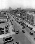 Looking north along Flatbush Avenue from Plaza Street West, 1928