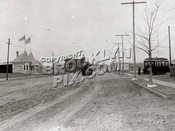 """Looking north along Flatbush Avenue to """"The Junction"""" at Nostrand Avenue in 1895"""