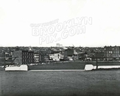 Looking north from Ft. Greene Park toward Myrtle Avenue and Ft. Greene Place, c.1884