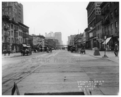 Looking north up 7th Avenue between 17 & 18th Streets - March 20 1916 Chelsea, Manhattan