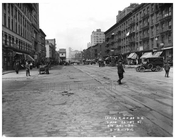 Looking north up 7th Avenue between 26 & 27th  Streets - March 20 1916 Chelsea, Manhattan