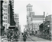 Looking North up 7th Avenue between 36th & 37th Streets at the Original Times Building -  March 20 1916 Chelsea, Manhattan
