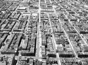 Looking northwest from above Prospect Park; Seventh Avenue in foreground, Third Street in the center, 1950s