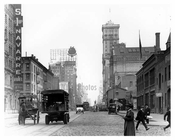 Looking up 7th Avenue at W. 37th Street - with the Original New York Times Bldg. in sight - 1917 Chelsea NY, NY
