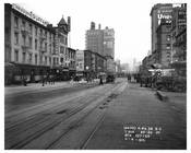 Looking up 7th Avenue between 25th & 26th Streets  November 4th 1915 Chelsea, Manhattan