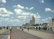 Looking west on boardwalk, 1949