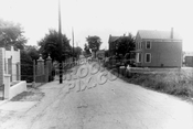 Lott's Lane west from Remsen Avenue, showing Canarsie Cemetery, 1961