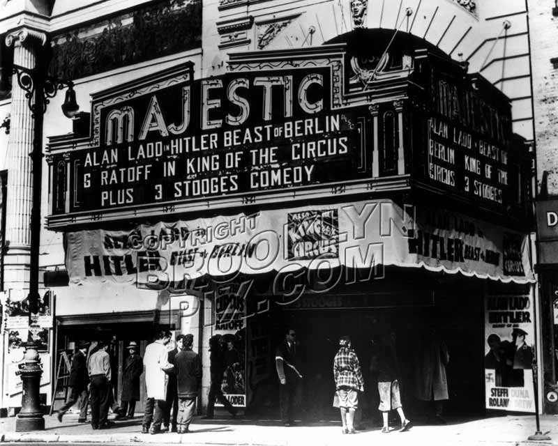 majestic theater at 651 fulton street 1940s fort greene
