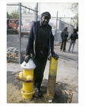 Man by Fire Hydrant - Flatbush Brooklyn NY