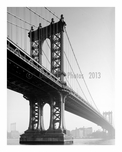 Manhattan Bridge 1979 -  from Manhattan shores