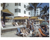 Miami Florida Beach sun bathers 1942