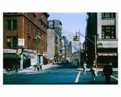 Mulberry Street facing Canal Street Chinatown - Downtown Manhattan 1965 NYC
