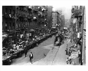 Mulberry Street Looking North at Canal St. 1915