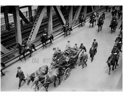 Navy funeral - On the Manhattan Bridge